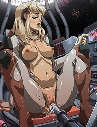 Manga babes fucked by monsters and machines