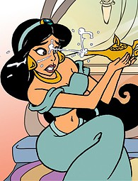 Hot princess Jasmine covered with cum