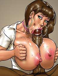 Hot nurses and nuns examine huge black monster cocks.