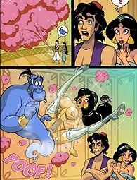 Naughty princess Jasmine makes wishes