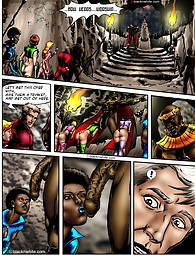 Interracial comics with tentacled black cock monster that wants to penetrate every space girl.