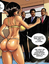 Three black dicks in white housewife's pussy and mouth - cool comics.