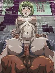 Manga Cléopâtre est résisté par derrière. Chattes anime serrés farcis à la viande Mans.