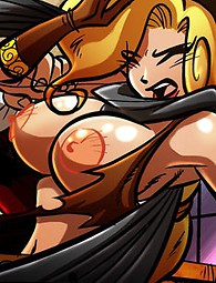 Hot comics gothic tale where sexy blonds have full pussies of cum.
