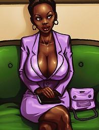 Ebony cock sucking sluts in comics