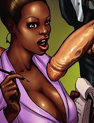 Ebony cock sucking sluts in comics