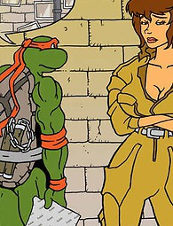 TMNT and the slut from channel six