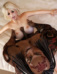 Interracial fantasies - black demons fuck fair beauties
