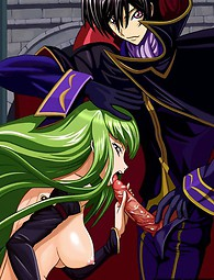 Girls from Code Geass adore extreme penetrations