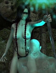Elf witch chanting naked erotic pics