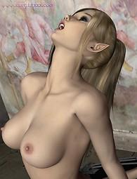Elf lécher la chatte - elfe porno xxx
