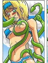 Hot tentacle hentai manga
