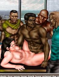 Interracial gang bang porn comix