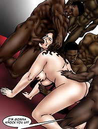 Interracial gang bang porn comix