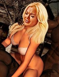 Fantasy hyper real horror porn
