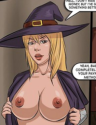 Cock-hungry witch sex comix