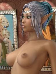 Elf porn girl posing nude