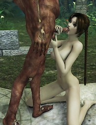 Lara Croft fucked by monsters