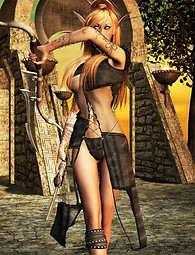 Warrior girl sex in fantasy world