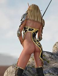 Elves in fantasy sex world