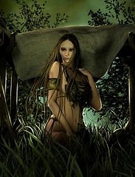 Sexy chicas guerreras y niñas elfo