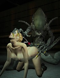 Alien sex with beautiful babes