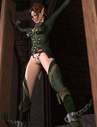 Beautiful Elf gets her punishment