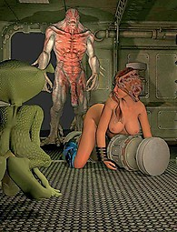Tentacle monsters and giants with monster cocks