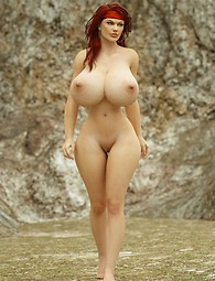 Delicious busty 3D fantasy babes