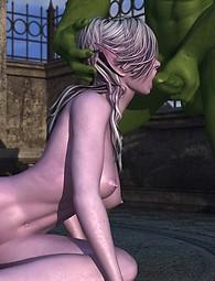 Rough monster sex