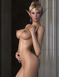 Blond elf babes naked xxx erotic pics