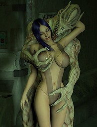Sci-fi alien monster porn
