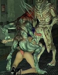 Sci-fi alien monster porn