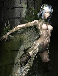 Sci-fi sex with hot chics and evil monsters