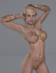 Lustful 3D elf babes in lingerie posing