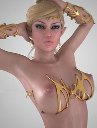 Lustful 3D elf babes in lingerie posing