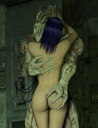 Evil creature fucking beautiful girl