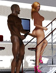 Muscle man fucks slim babe