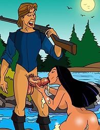 Loco bombón india Pocahontas se abundantemente crema por dentro y por fuera