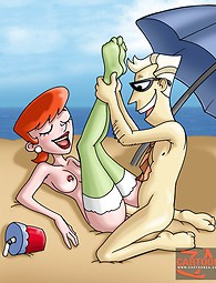 Mom and dad from Dexter's Laboratory series fucking like real sex junkies