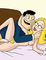 American Dad drills his wifey. American Dad's wife gets the best of his huge cock
