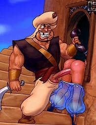 Maldita perra de Aladino. Princesa Jasmine Aladdin tramposos con sus fuckmates