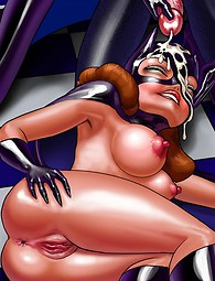 Cartoon whore Batgirl gets jizzed