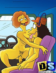 Awesome cartoon xxx with The Simpsons