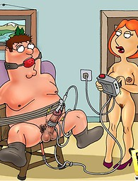 BDSM fun with Family Guy. Peter and Lois Griffin are switches addicted to BDSM fucking