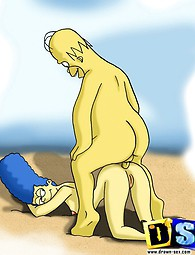 Edna Krabappel and Marge Simpson cartoon porn