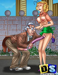 Toons fuck using rubber sex toys