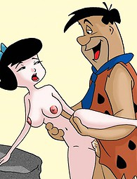 Betty Rubbles gets hammered - famous cartoon porn