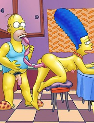 Fucking scenes from The Simpsons. The men of Springfield are hopeless - but damn horny