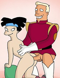 Sexy babe Leela from Futurama fucked - adult cartoon xxx